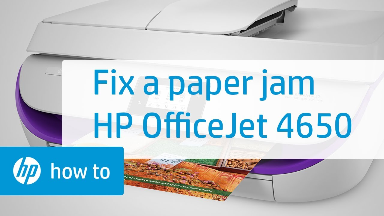 Fixing A Paper Jam On The Hp Officejet 4650 Printer Hp