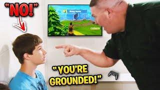 DAD DESTROYS Kids PS4 for Buying 200,000 vBucks! (Fortnite)