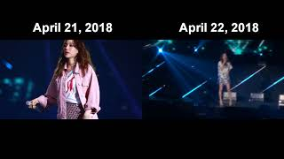 SNSD Taeyeon Apr 21, 2018 vs Apr 22, 2018 (Star Light) - Stafaband
