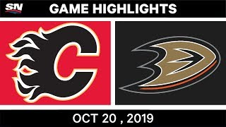 Nhl Highlights | Flames Vs. Ducks – Oct. 20, 2019