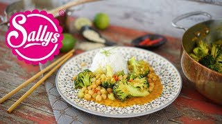 Thai Curry mit Kichererbsen und Reis / schnelles Mittagessen
