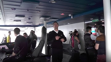 Quantum Of The Seas: 1 - our mind-blowing bridge tour of this new $1 billion cruise ship