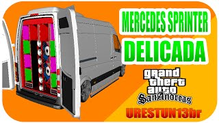 📢 GTA SA ⚫ MOD MERCEDES SPRINTER DELICADA  ♦ DOWNLOAD