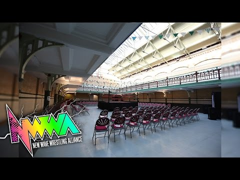 """Robert Sharpe's new client for NWWA """"Draw The Line"""" @ Victoria Baths, Manchester, 27/6/15"""