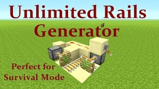 Minecraft Tutorial : Unlimited Rail Generator Works on Playstation, Xbox & PC