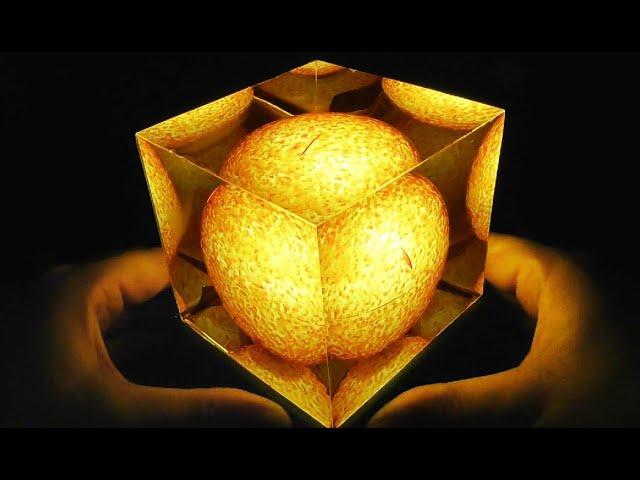 The Sun In My Hands Resin Art Epoxy Resin Lamp