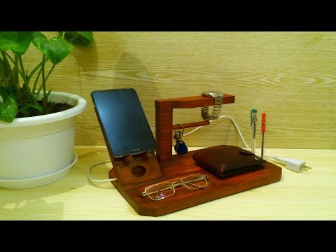 #wirelesscharger #diy DIY wireless phone charger docking station. Samsung iPhone wireless charger