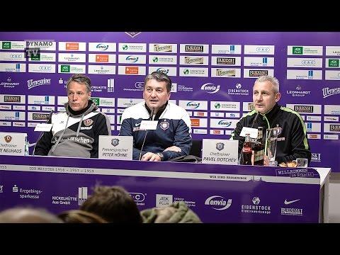 17. Spieltag | AUE - SGD | Pressekonferenz nach dem Spiel