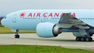[FullHD] Air Canada Boeing 777-200(LR) landing & takeoff at Geneva/GVA/LSGG