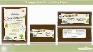 Scavenger Hunt Birthday Party Theme