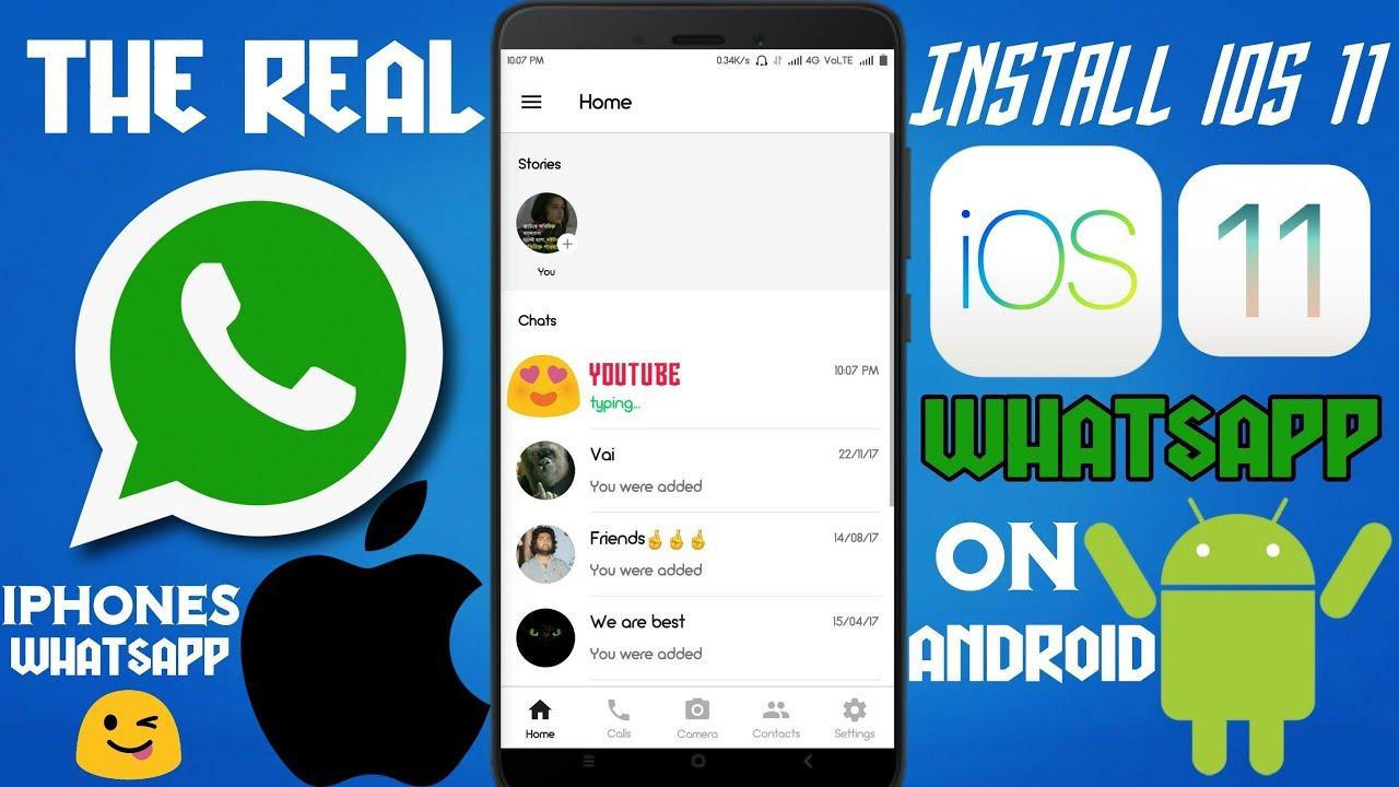 download tema whatsapp ios 11 terbaru