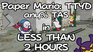 (TAS) Paper Mario: The Thousand-Year Door any% in 1:47:09.03 (Overlay, Commentary)