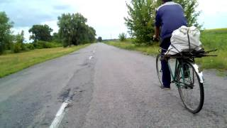 обгон велосипедиста Владимирское - Хутор красний Яготин-Згуровка