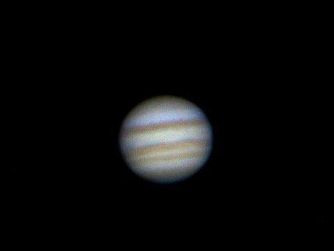 Jupiter telescope view: Jupiter through 8-inch telescope