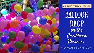 Balloon Drop on the Caribbean Princess