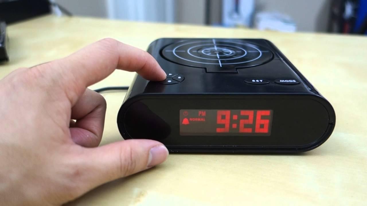 Gun Target Alarm Clock Review You