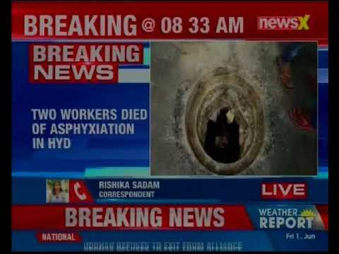 Two daily- wage labourers asphyxiate to death in Hyderabad while Cleaning Manhole