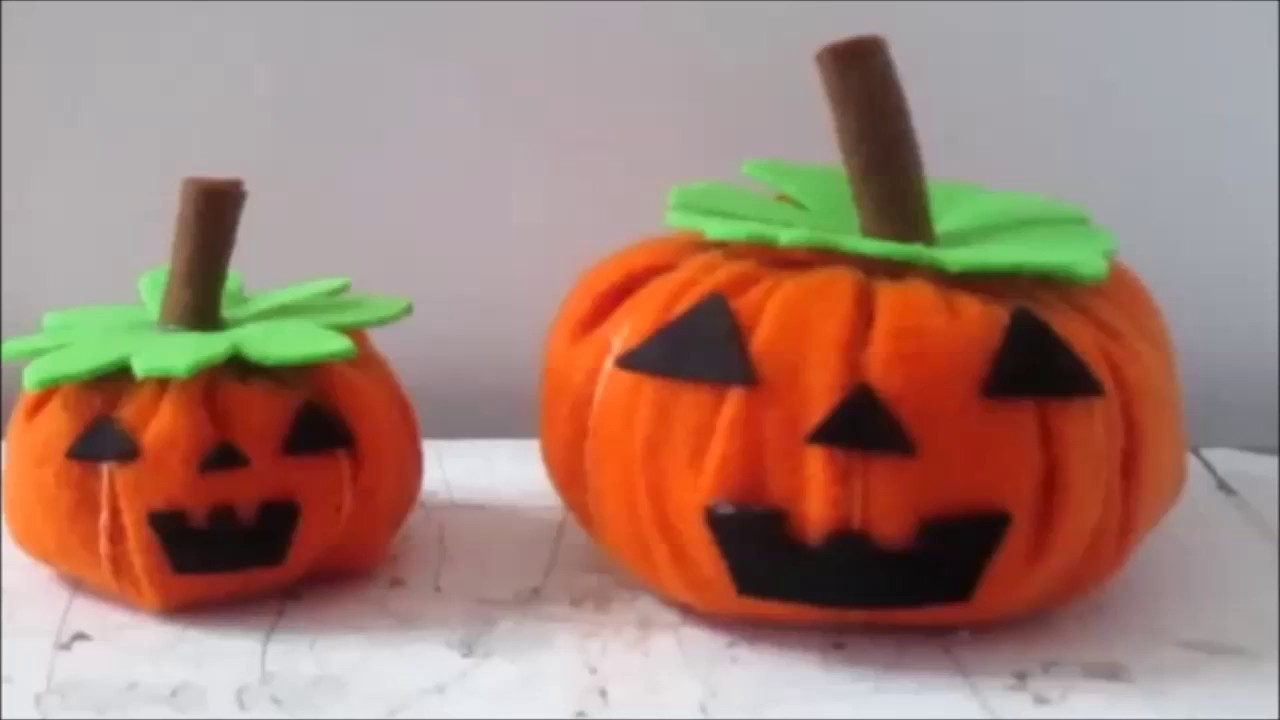 Zucca Halloween Cartapesta.Tutorial Halloween Pumpkins In Pannolenci