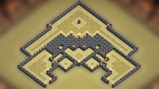 Clash of clans - Town hall 9 (TH9) Best war base 2015 [Anti 2 stars] + Replay