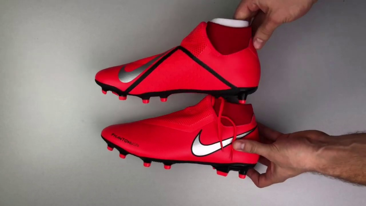 NIKE Jr Victory VI Dynamic Fit FG Soccer Cleat Red Bright Crimson Sz. 4Y