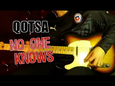 No One Knows - Queens Of The Stone Age ( Guitar Tab Tutorial & Cover )