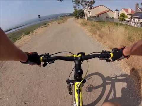 Mountain Biking on Bay Trail, Redwood Shores, CA