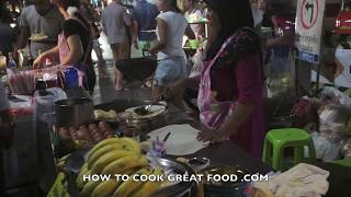 Bangkok Street Food Chinatown at night Thailand - Yaowarat China town - เยาวราช