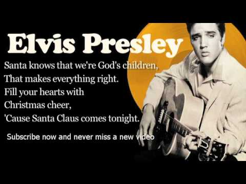 Elvis Presley - Here Comes Santa Claus - Lyrics