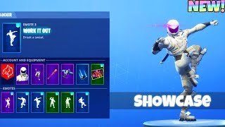 *NEW* DANCE EMOTES! With WHITEOUT and OVERTAKER Skin! (Showcase) Fortnite Battle Royale