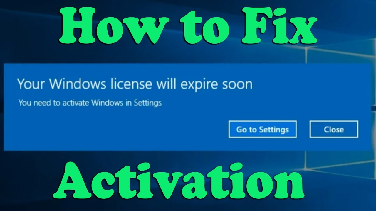 How to Fix Your Windows License Will Expire Soon Windows 10 - YouTube