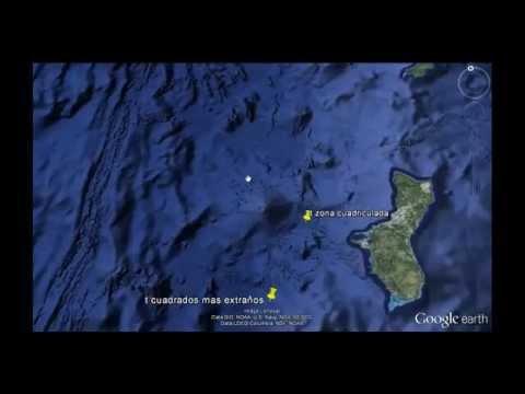 Misteriosas carreteras en el fondo del mar Google earth