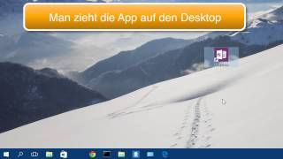 Windows 10 App Verknüpfung auf dem Desktop erstellen