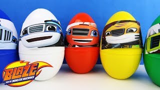 Blaze and the Monster Machines Giant Surprise Eggs ⭐ Learn COLORS ⭐ Kids Video BATH PLAY
