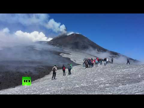 Etna eruption: Stunning scenes from Europe's tallest volcano