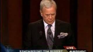 Honoring TIM RUSSERT - Tom Brokaw - Memorial Service In W.DC