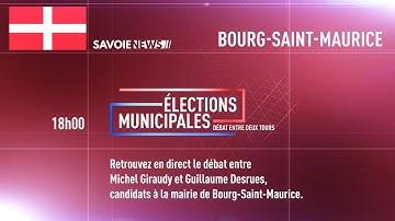 #DIRECT Municipales 2020 : Débat Bourg Saint Maurice, face à face, Michel Giraudy-Guillaume Desrues