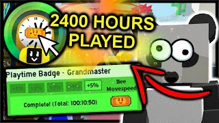 I Played 2400 HOURS In Bee Swarm Simulator - Playtime Grandmaster Badge | Roblox Bee Swarm Simulator