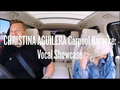 Christina Aguilera Carpool Karaoke: Vocal Showcase (F#3*-Eb5-G6)