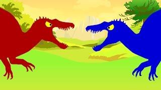 Веселые Динозаврики. Спинозавр против Спинозавра. Динозавры мультфильм про динозавров для детей
