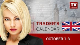 Trader's calendar October 1 - 3:  Euro to decline again?