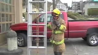 one man extension ladder throw