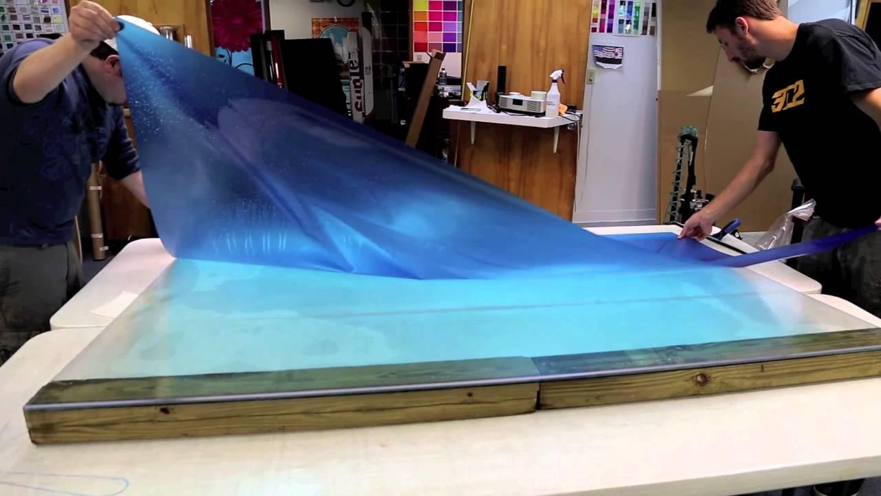 solar graphics azure blue process blue uv 4mil tegere clear film print installation on. Black Bedroom Furniture Sets. Home Design Ideas