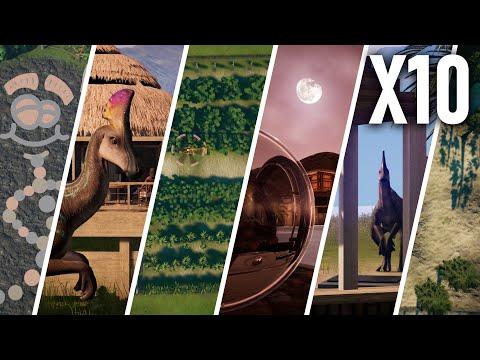 10 Exciting Exhibits | Dinosaur enclosure ideas | Jurassic World Evolution