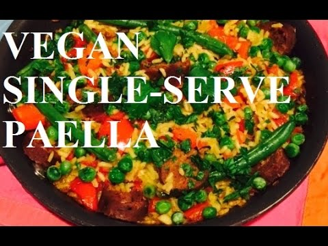 Vegan Paella for One or Two People // Easy and Sustainable
