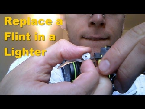 Lighter Flint Replacement - How to replace Flint in a Lighter (Normal)
