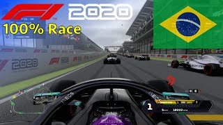 F1 2020 - Let's Make Hamilton 7x World Champion #21: 100% Race Brazil