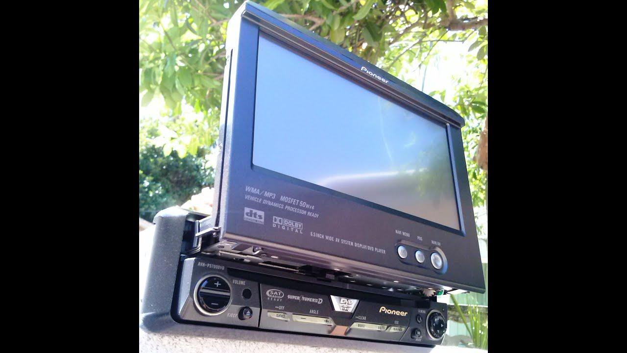 hight resolution of pioneer retratil avh p5700 dvd c tv digital leitor sd camera de r