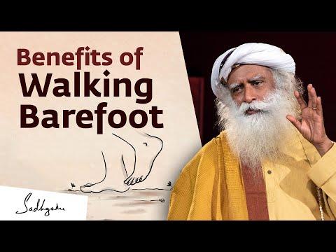 How Walking Barefoot Improves Your Health   {Sadhguru Exclusive}