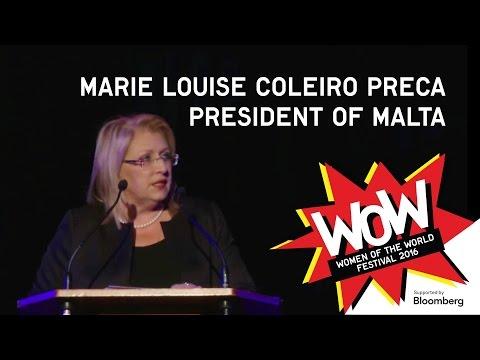 President of Malta, Marie Louise Coleiro Preca - WOW 2016