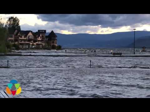 Waves test lakeshore flood defences